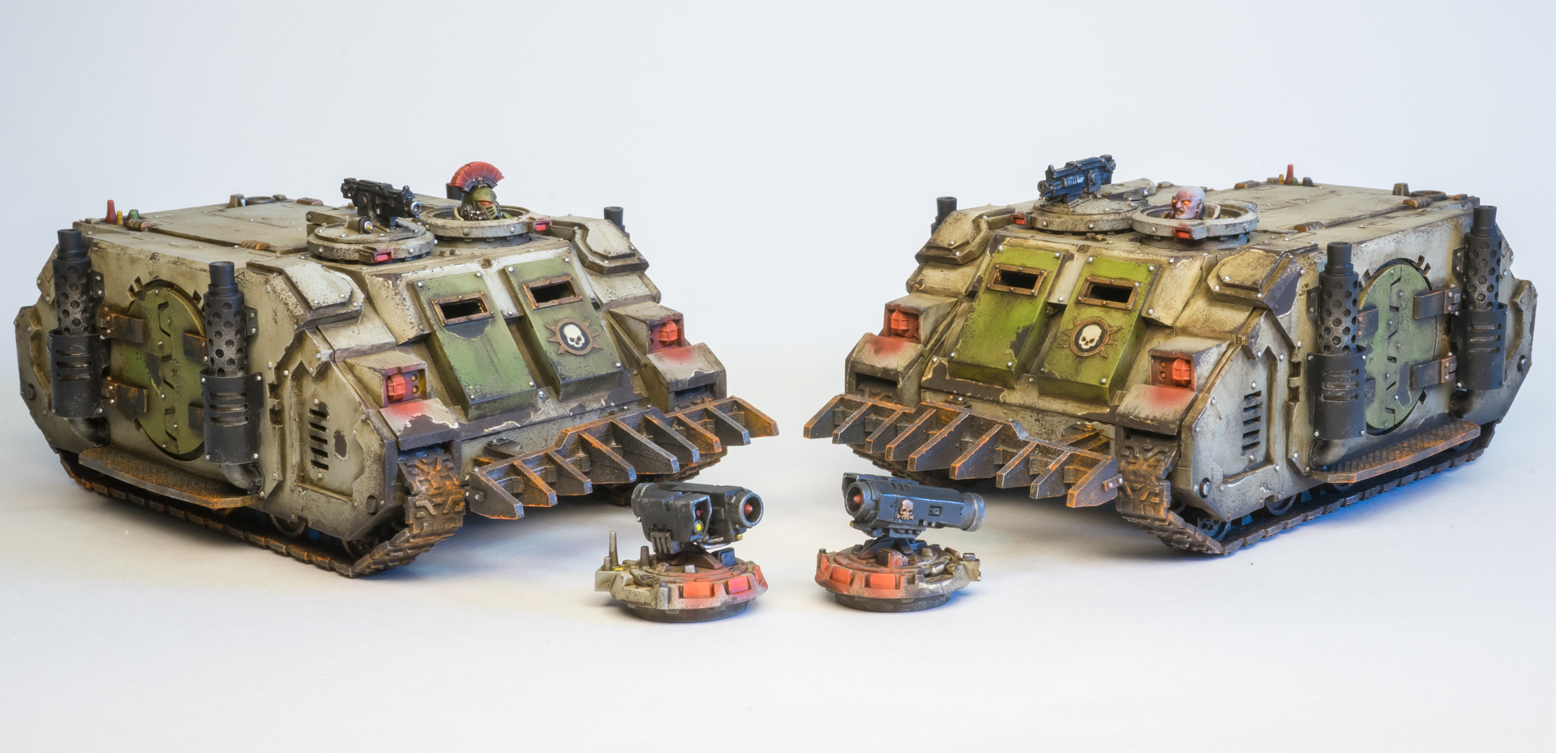 Death Guard Rhinos by Jason Krieger