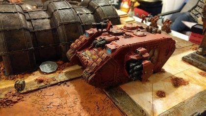 Land Raider locking down their objectives