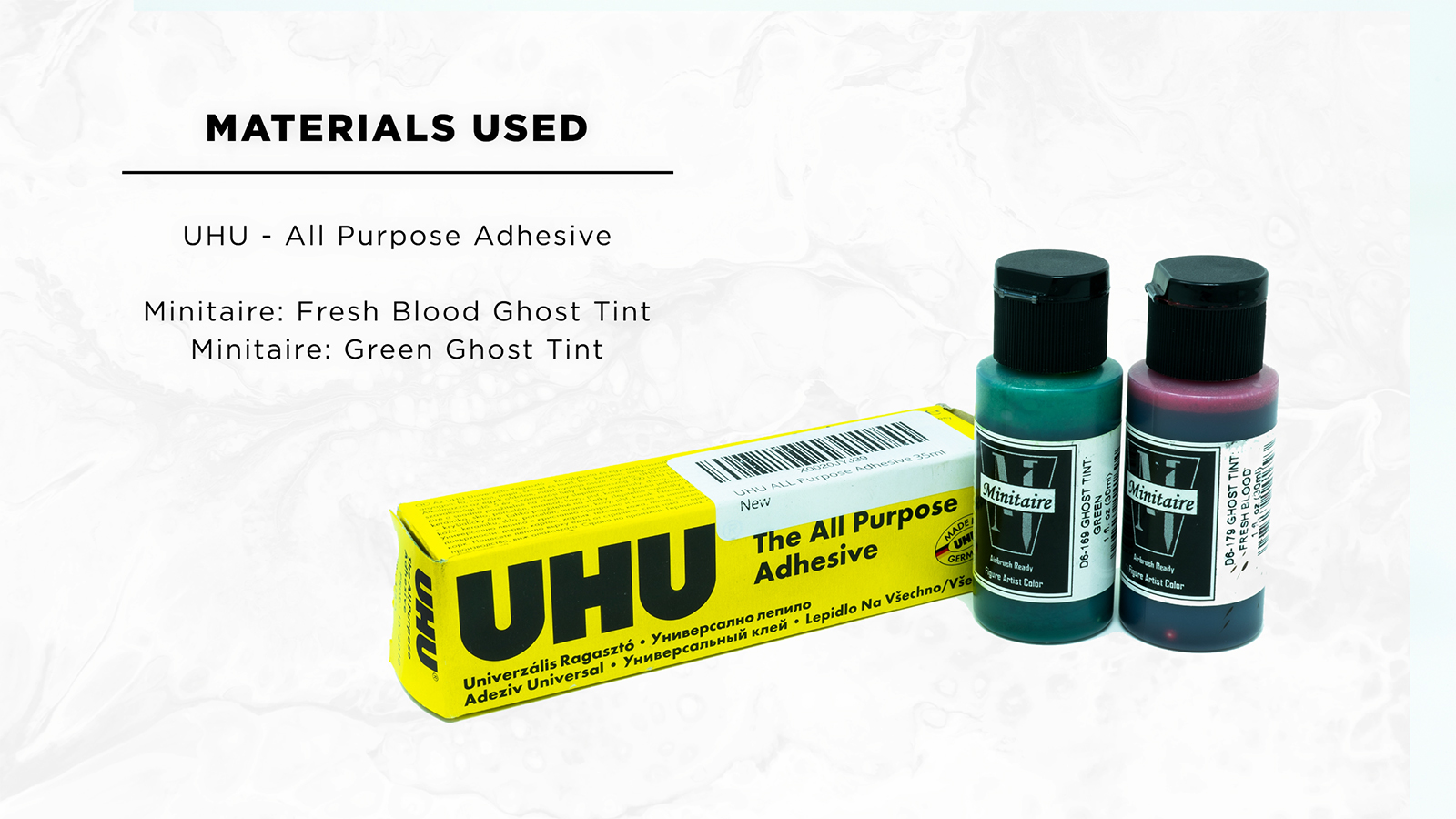How to Paint: Blood, Gore and Slime Effects - Materials Used